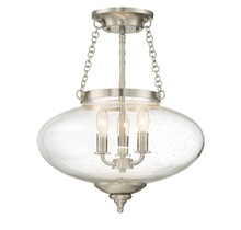 Savoy House 6-9040-3-SN - Lowry 3 Light Semi-Flush