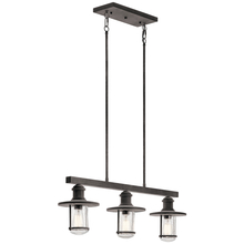 Kichler 49197WZC - Outdoor Linear Chandelier 3Lt