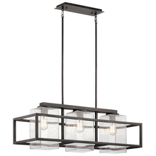 Kichler 49805WZC - Outdoor Linear Chandelier 3Lt