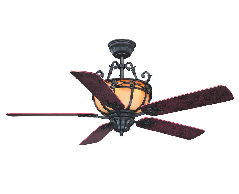 Six Light Slate Ceiling Fan