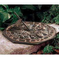 Whitehall 00474 - BUTTERFLY SUNDIAL OIL RUBBED BRONZE