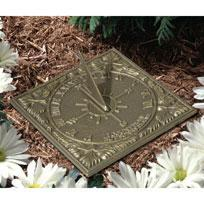 Whitehall 00488 - SUNNY HOURS SUNDIAL OIL RUBBED BRONZE