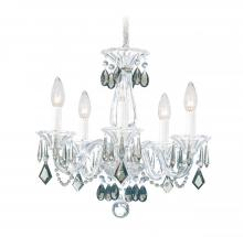 Schonbek 6995CL - Allegro 5 Light 110V Chandelier In Silver With Clear Heritage Crystal