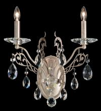 Schonbek FE7002N-23H - Filigrae 2 Light 110V Wall Sconce In Etruscan Gold With Clear Heritage Crystal