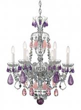 Schonbek 5535CL - Hamilton Rock Crystal 6 Light 110V Chandelier in Silver with Clear Rock Crystal