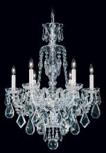 Schonbek 5735CL - Hamilton 6 Light 110V Chandelier in Silver with Clear Heritage Crystal