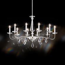 Schonbek 9695N-40CL - Jasmine 10 Light 110V Chandelier in Silver with Clear Optic Crystal