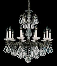 Schonbek 5474-27 - La Scala Rock Crystal 10 Light 110V Chandelier in Parchment Gold with Clear Rock Crystal
