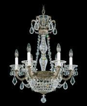 Schonbek 5076-76 - La Scala Empire 8 Light 110V Chandelier in Heirloom Bronze with Clear Heritage Crystal