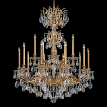 Schonbek 5686-22O - Milano 15 Light 110V Chandelier in Heirloom Gold with Clear Optic Crystal