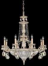 Schonbek 5692-83O - Milano 12 Light 110V Chandelier in Florentine Bronze with Clear Optic Crystal