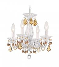 Schonbek 6984CL - Minuet 4 Light 110V Chandelier In Silver With Clear Heritage Crystal