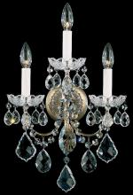 Schonbek 3652-211H - New Orleans 3 Light 110V Wall Sconce In Aurelia With Clear Heritage Crystal