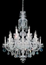 Schonbek 6860-40A - Olde World 25 Light 110V Chandelier in Silver with Clear Spectra Crystal