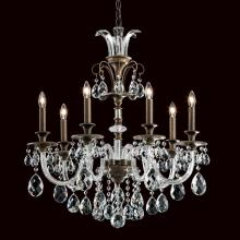 Schonbek RT6824N-26H - Rivington 7 Light 110V Chandelier in French Gold with Clear Heritage Crystal