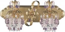 Schonbek 1255-76CL - Rondelle 2 Light 110V Wall Sconce In Heirloom Bronze With Clear Vintage Crystal