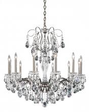 Schonbek ST1949N-22H - Sonatina 12 Light 110V Chandelier in Heirloom Gold with Clear Heritage Crystal