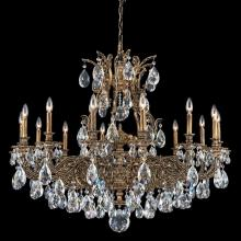 Schonbek 6954-74O - Sophia 14 Light 110V Chandelier in Parchment Bronze with Clear Optic Crystal