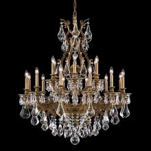 Schonbek 6960-74O - Sophia 18 Light 110V Chandelier in Parchment Bronze with Clear Optic Crystal