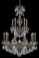 Schonbek 6964-27O - Sophia 15 Light 110V Chandelier in Parchment Gold with Clear Optic Crystal