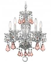 Schonbek 2999-40H - Sterling 5 Light 110V Chandelier In Silver With Clear Heritage Crystal
