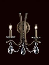 Schonbek VA8332N-59H - Vesca 2 Light 110V Wall Sconce In Ferro Black With Clear Heritage Crystal