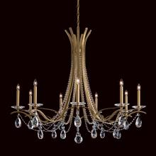 Schonbek VA8339N-26H - Vesca 9 Light 110V Chandelier in French Gold with Clear Heritage Crystal