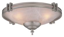 Craftmade LK63CFL-BN - 2 Light Bowl Fan Light Kit in Brushed Satin Nickel with Alabaster Glass