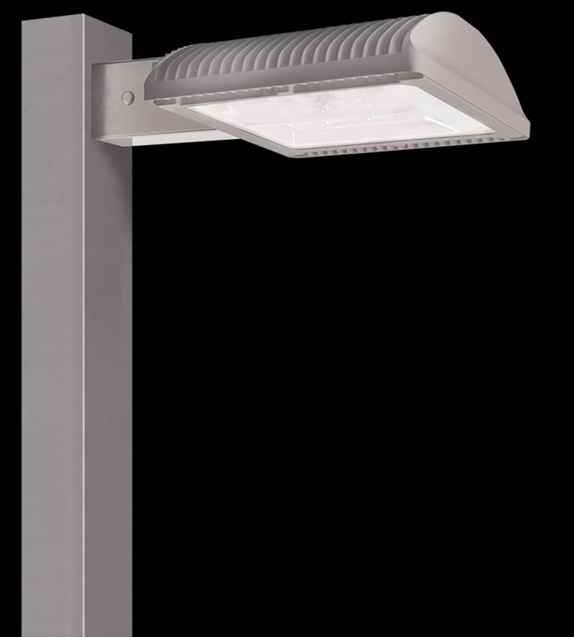 "ALED78 TYPE III 8"" POLE ARM NEUTRAL LED + 120V PC RD GRAY"