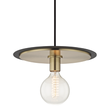 Mitzi by Hudson Valley Lighting H137701L-AGB/BK - 1 Light Large Pendant