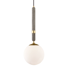 Mitzi by Hudson Valley Lighting H289701L-AGB - 1 Light Large Pendant