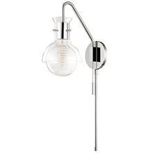 Mitzi by Hudson Valley Lighting HL111101G-PN - 1 Light Wall Sconce With Plug