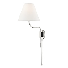 Mitzi by Hudson Valley Lighting HL240101-PN - 1 Light Wall Sconce With Plug