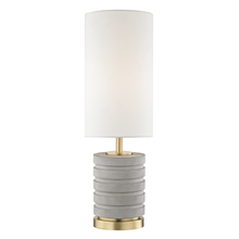 Mitzi by Hudson Valley Lighting HL250201-AGB - 1 Light Table Lamp