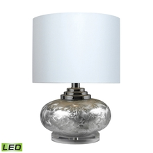 Elk Home D234-LED - Ceramic LED Table Lamp In Frosted Ceramic With White Shade