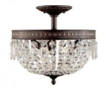 World Imports WI237306 - Bijoux Collection 3-Light Flemish Semi-Flush Mount Light