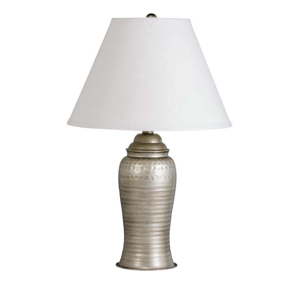 One Light Antique Pewter Table Lamp