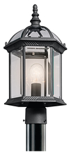 Kichler 49187BK - Outdoor Post Mt 1Lt